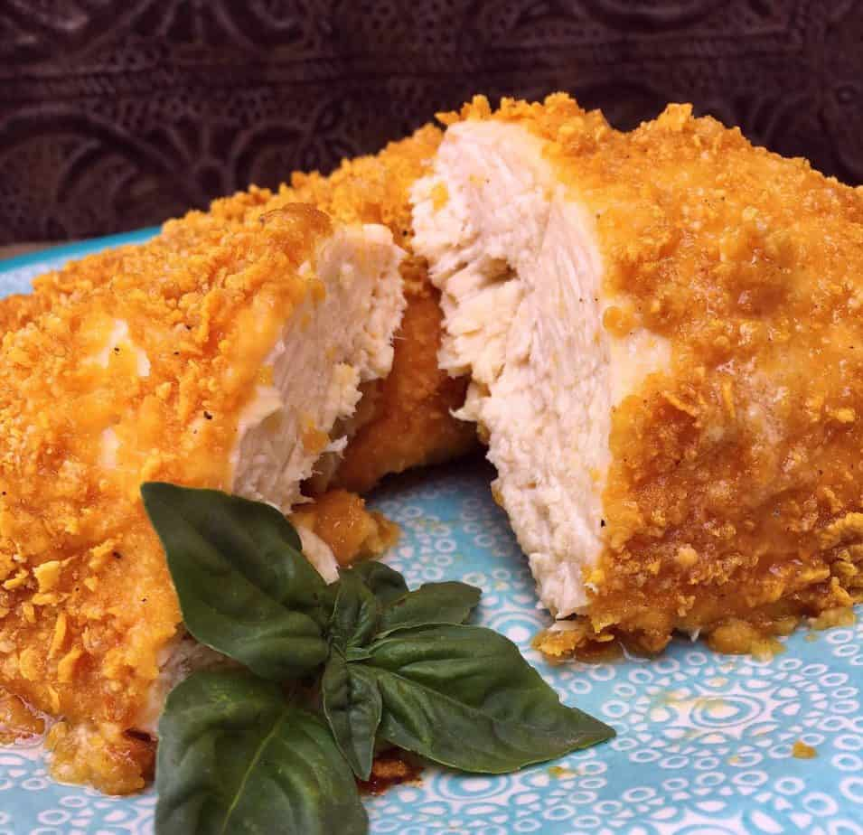 Crispy Parmesan Oven Fried Chicken