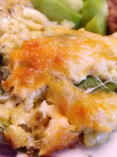 Green and Gold Casserole with Zucchini