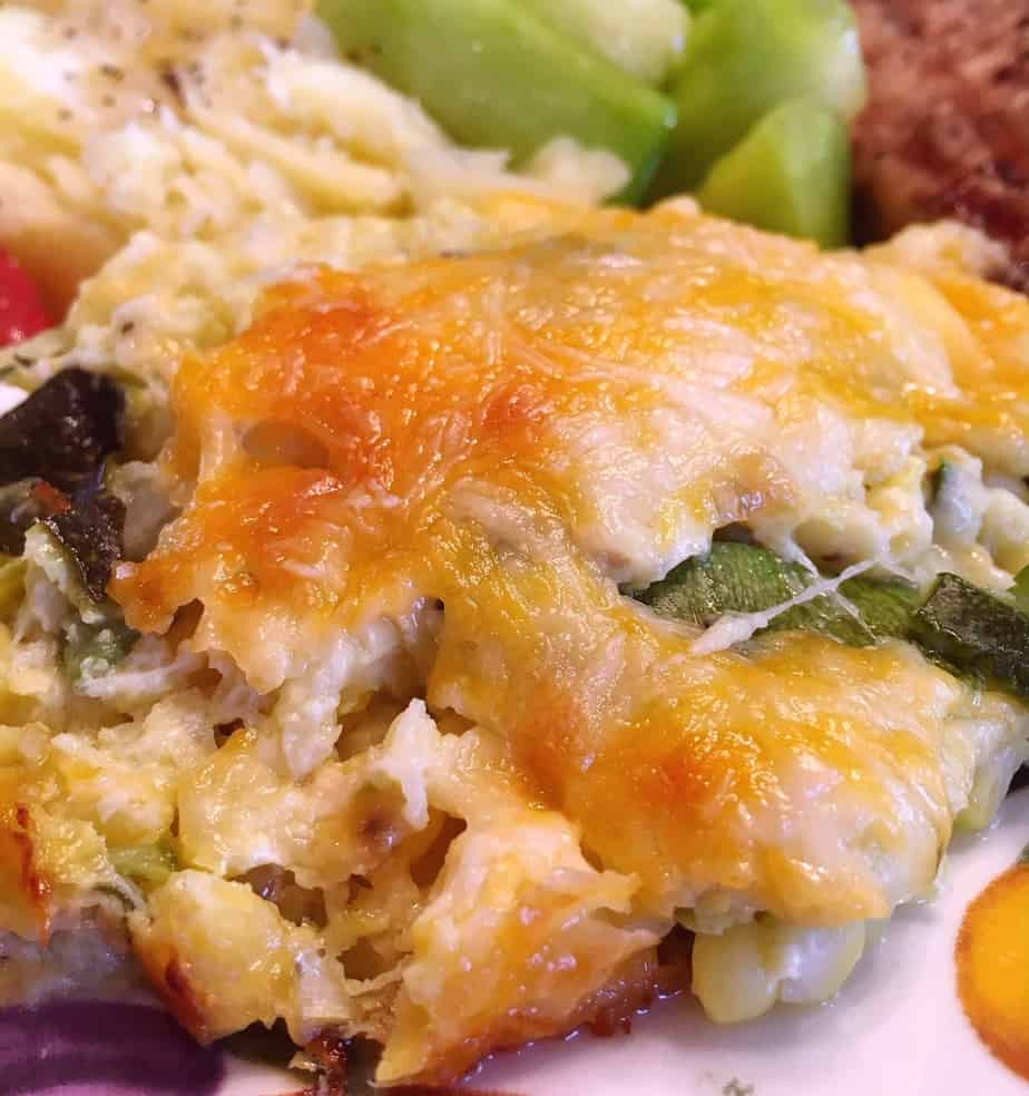 Green and Gold Squash Casserole