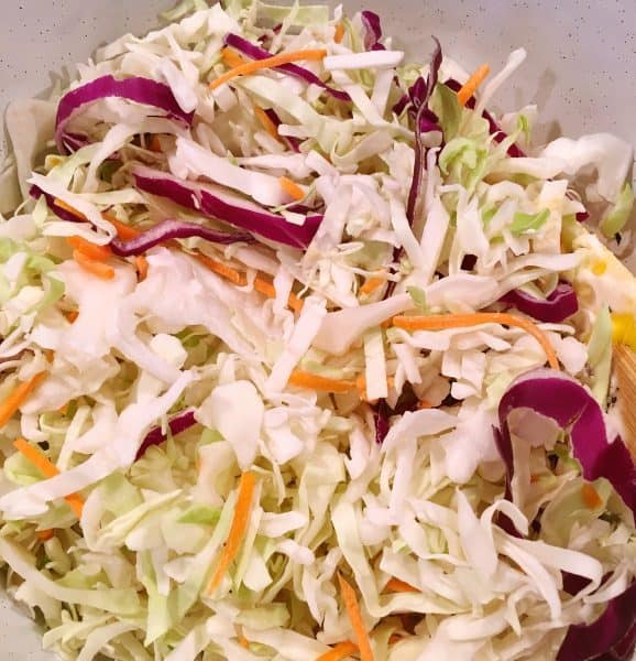Shredded cabbage mix