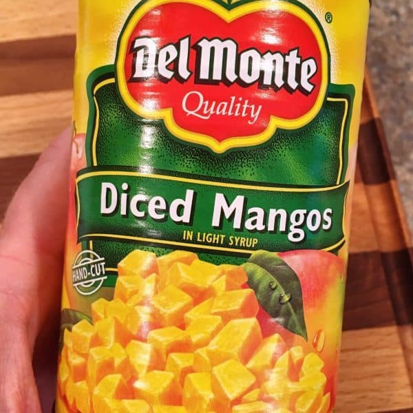 can of diced mangos