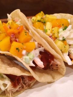 Island Tacos on a plate
