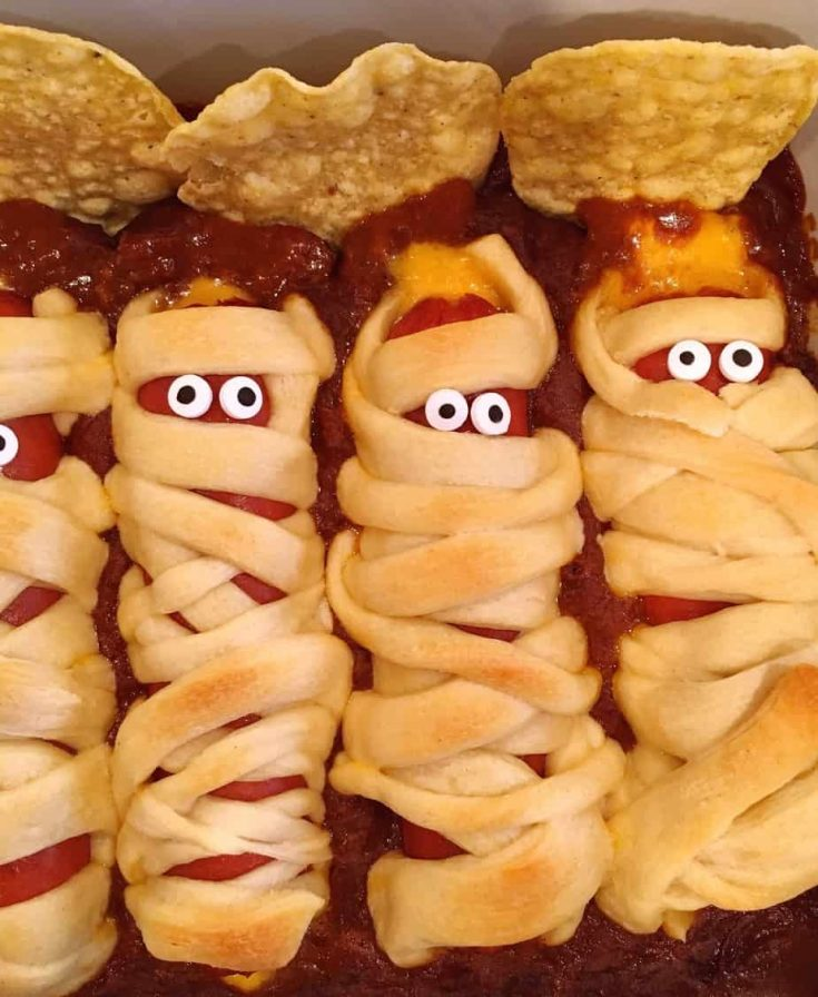 Hot Dog Mummies In A Graveyard