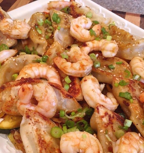 Potsticker Shrimp Vegetable Stir Fry