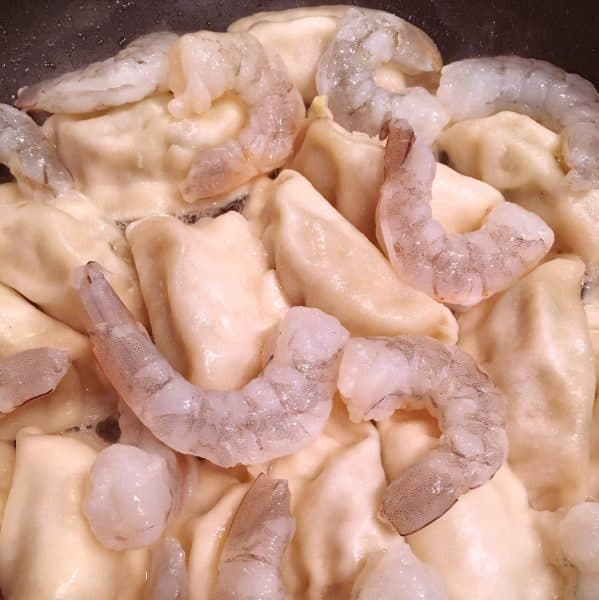 Addition of Shrimp to Potstickers