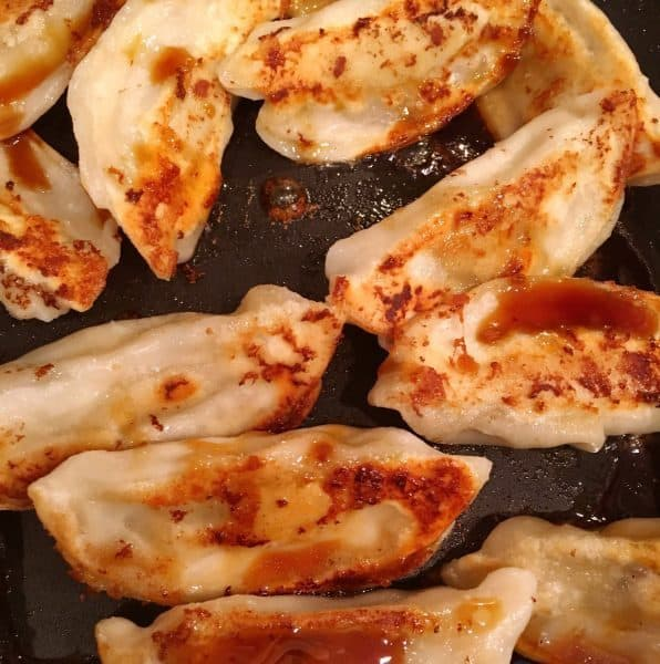 Potstickers with sauce