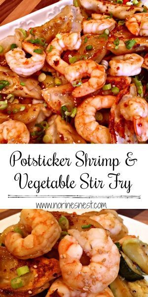 Potsticker Shrimp and Vegetable Stir Fry