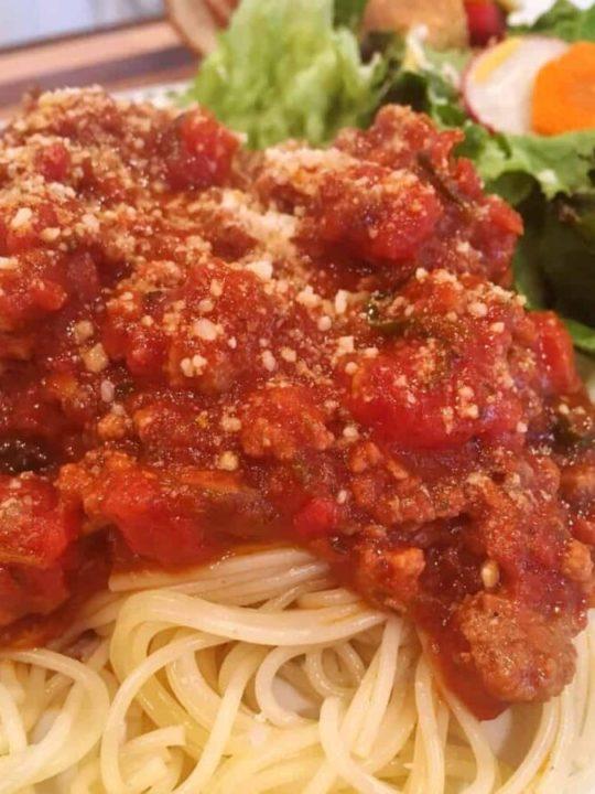 Spaghetti Sauce with Pasta