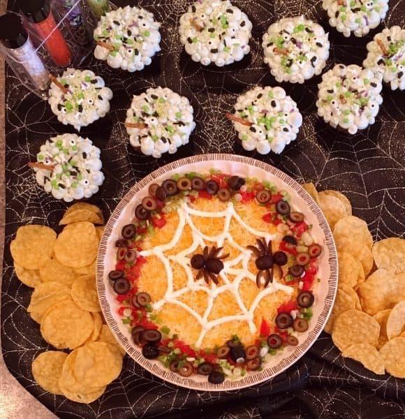 Spooky Halloween Seven Layer Dip