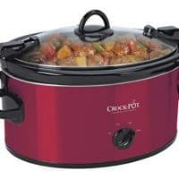 Crock-Pot 6-Quart Cook & Carry Oval Manual Portable Slow Cooker, Red
