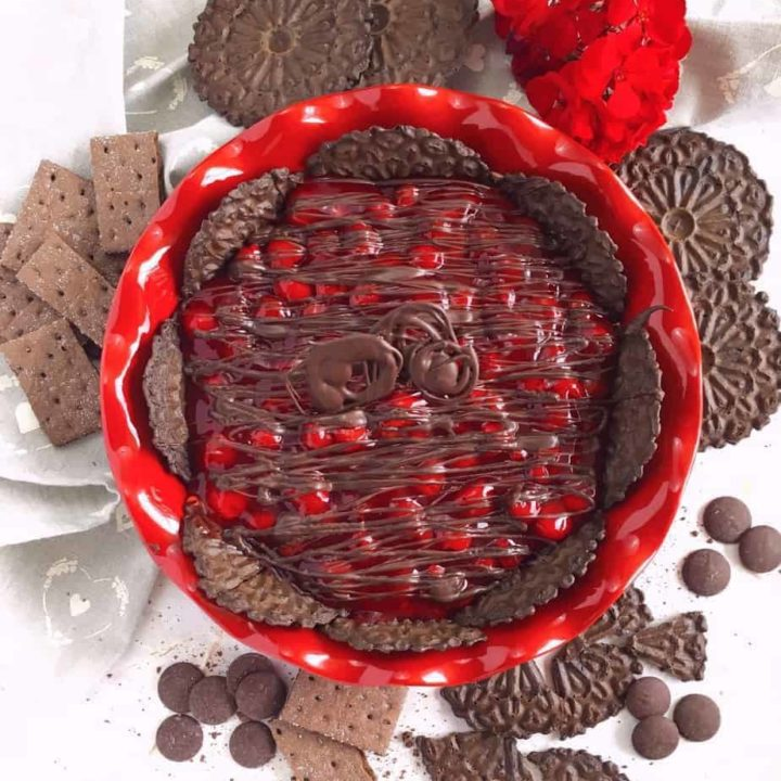 Chocolate Cherry Cheesecake Dip