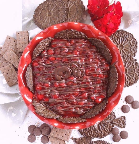Chocolate Cherry Cheesecake Dip