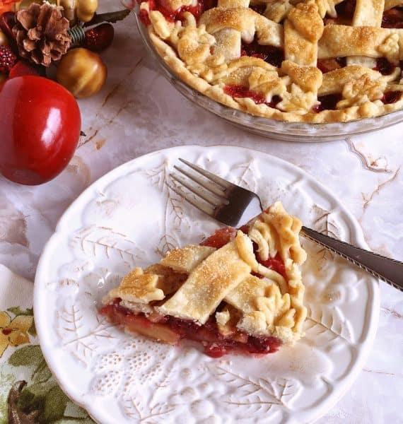 Slice of Cranberry Apple Pie
