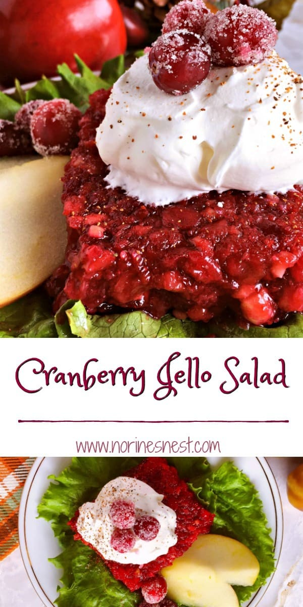 Fresh Cranberries and Apples combine with walnuts to create the perfect Holiday Salad.