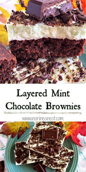 Pinterest image for mint chocolate brownies
