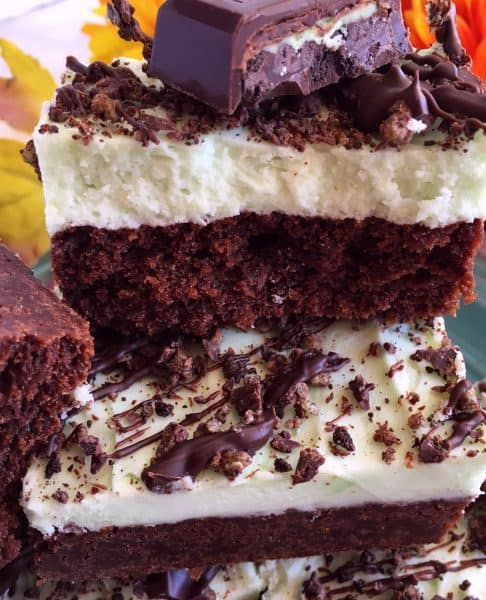 Layered Mint Chocolate Brownies