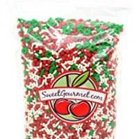 SweetGourmet Twinquins Festive Flurry Mix - Christmas Sprinkles & Nonpareils (13oz)