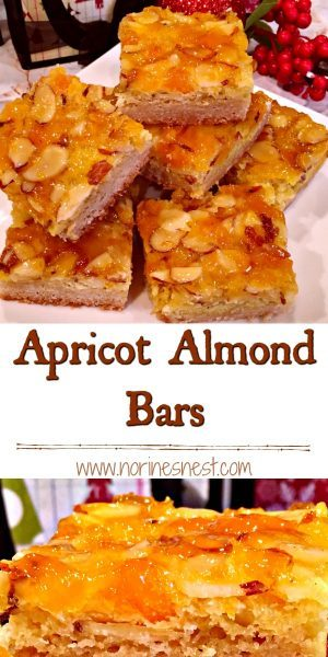 Pinterest image of Apricot Almond Bars