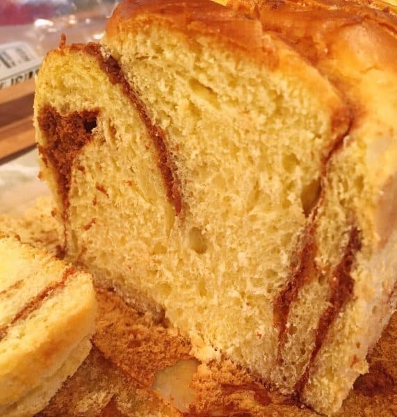 Brioche Bread Sliced into thick slices