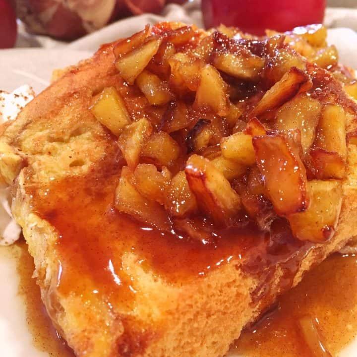 Caramel Apple Brioche French Toast