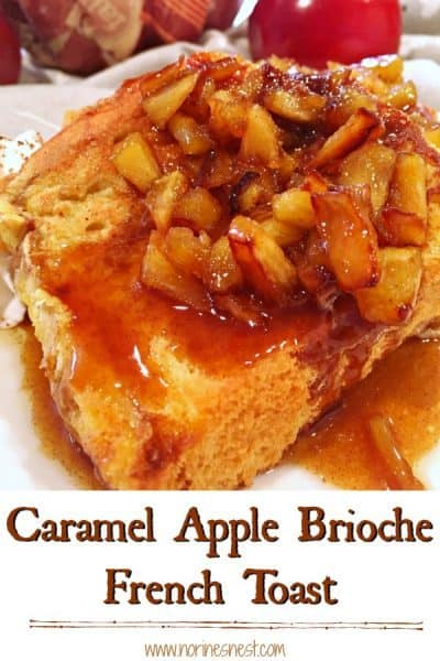 Caramel Apple Brioche French Toast