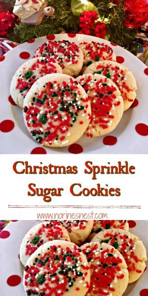 Christmas Sprinkle Sugar Cookies for Pinterest