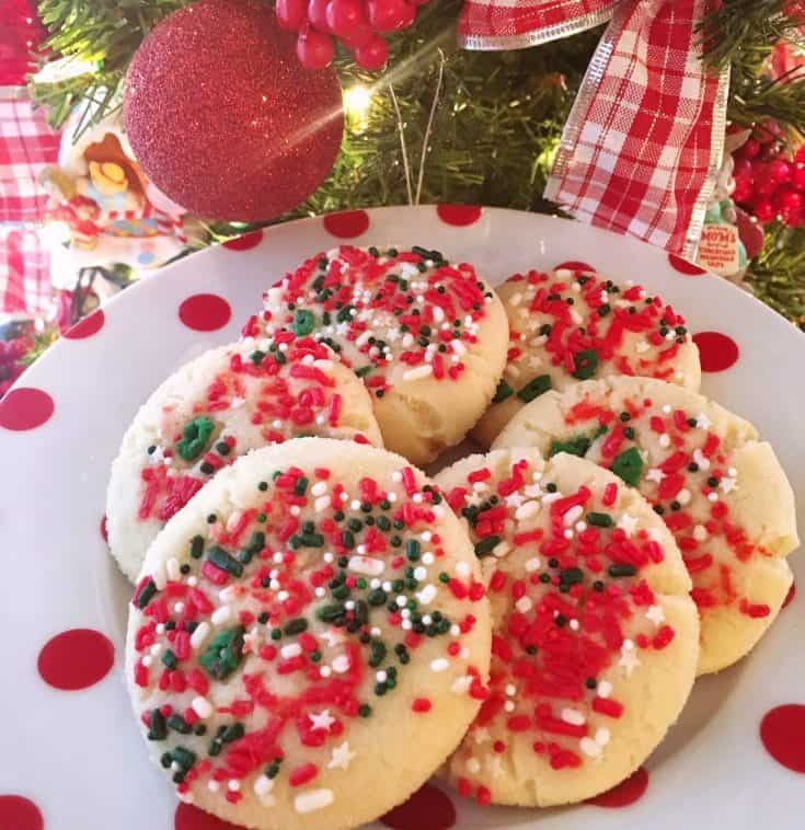 Christmas Sprinkle Sugar Cookies