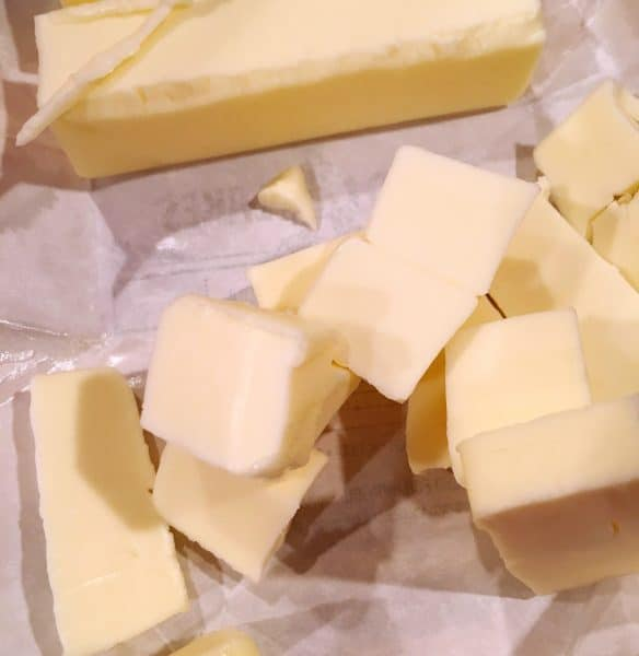 cold butter cut into cubes