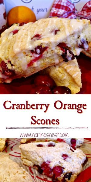 Cranberry Orange Scones Pinterest Pin