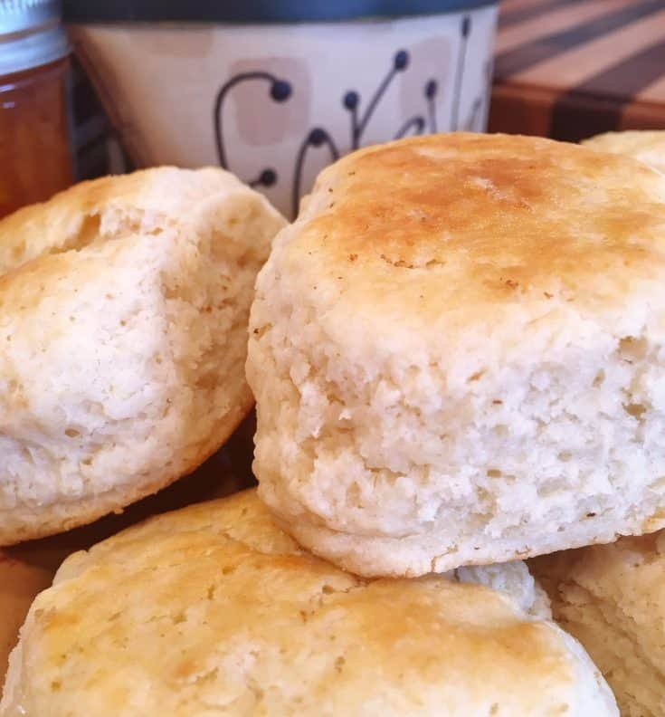 Tender Tasty easy to make homemade baking powder biscuits are ready in minutes and sure to be a family favorite.