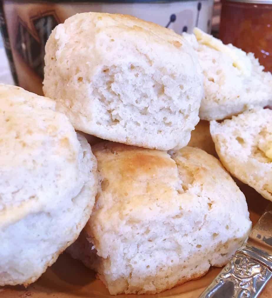 Buttermilk Baking Powder Biscuits piled high