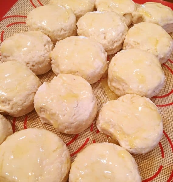 Biscuits with melted butter