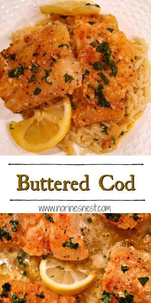 Pinterest Image for Buttered Cod