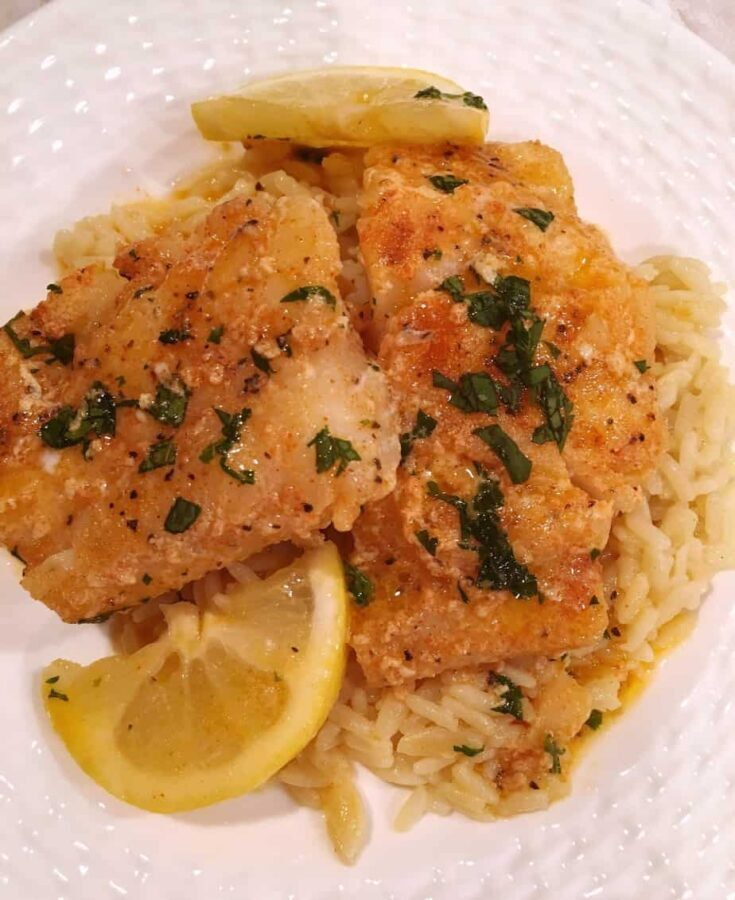 Buttered Cod over Rice