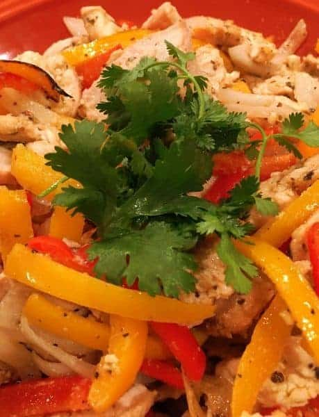 Tangy Chicken Fajita's have a different flavor from usual chicken fajita's. If desired serve with tortillas, salsa, cheese,  gaucamole, sour cream, rice and beans. A super flavorful dish! Enjoy!