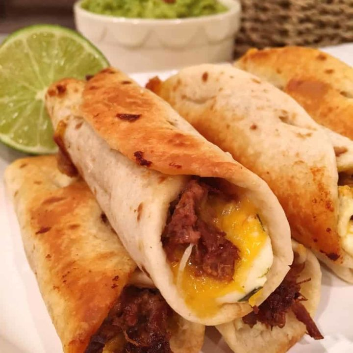 Oven Fried Mini Beef Flautas