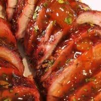 Chili Rubbed Pork Tenderloin with Apricot Glaze