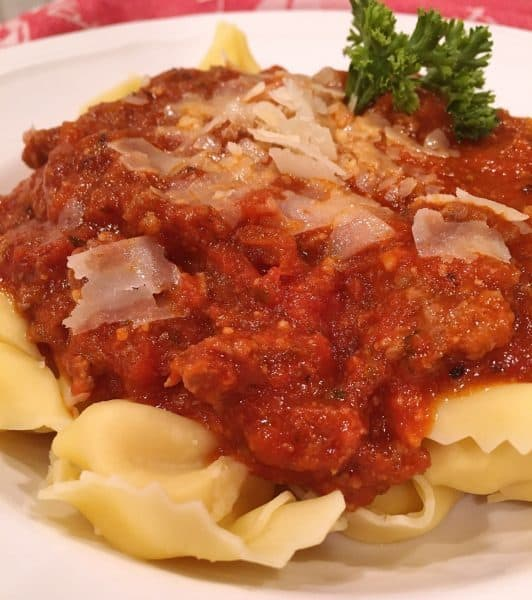 Meat Sauce with Tortellini