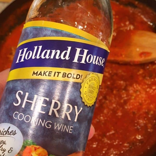 adding sherry to sauce