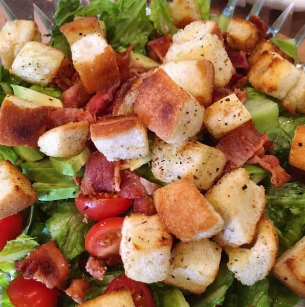 Adding Crouton's to salad