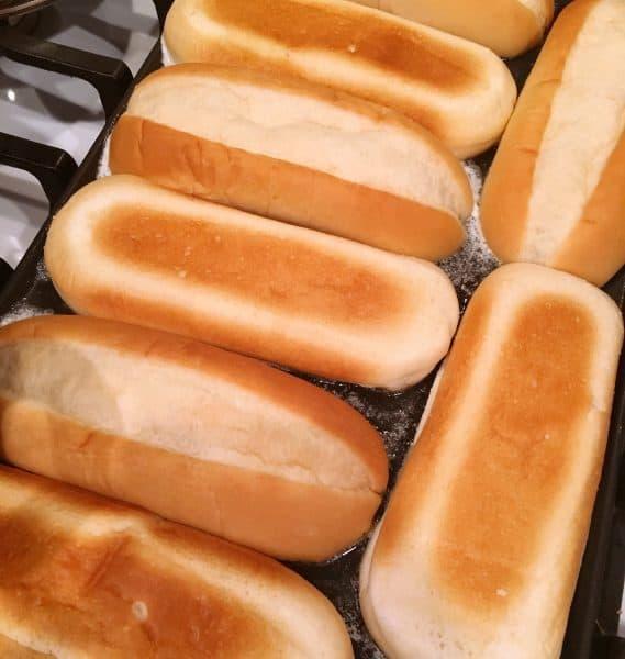 Toasting sub rolls