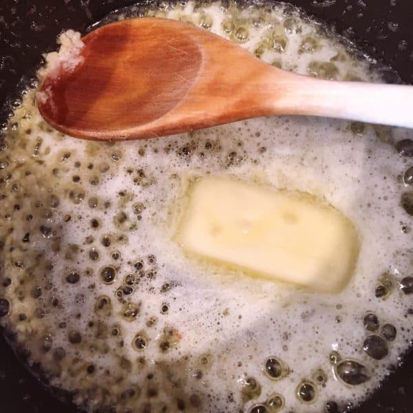 Melted Butter with minced garlic