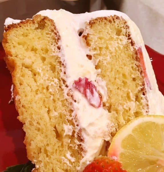 Slice of Mock Lemon Chiffon Cake