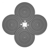 zanmini Silicone Trivets for Hot Dishes, 4pcs Hot Pads for Countertops, Flexible Gray Hot Pad Trivet, Pot Holders, Spoon Rest, Jar Opener Easy Clean & Dishwasher Safe
