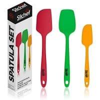 Silchef Spatulas Silicone Heat Resistant - (3 pack) - Professional Grade Non Stick Flexible Rubber Spatulas for non stick cookware