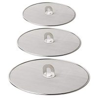 "Homestia Grease Splatter Screen for Frying Pan Fine Mesh Stops Stove Oil Guard Skillet Lid Heavy Duty, 10""+11.5""+13"""
