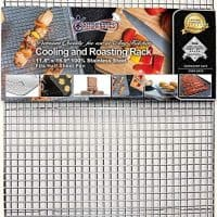 "KITCHENATICS Professional Grade Stainless Steel Cooling and Roasting Wire Rack Fits Half Sheet Baking Pan for Cookies, Cakes Oven-Safe for Cooking, Smoking, Grilling, Drying, Heavy Duty -11.8"" x 16.9"""
