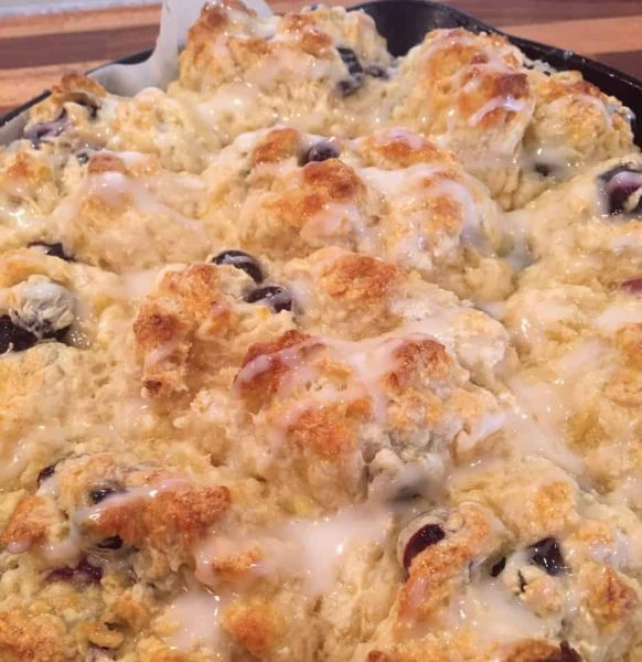Drizzle glaze over muffins
