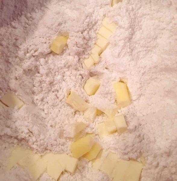 Cut in butter