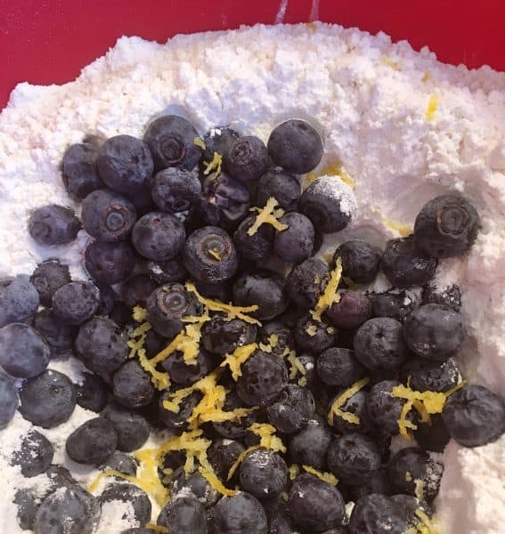 Blueberries and Lemon added to mix